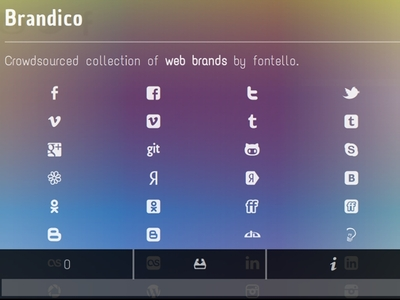 We Love Icon Fonts - Optimized for small screens